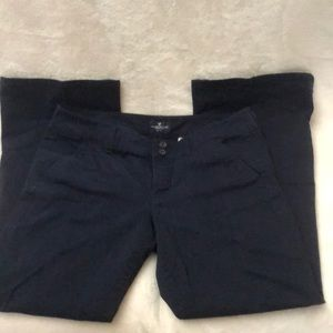 AEO Artist Cut Pants Sz 12 Short Navy